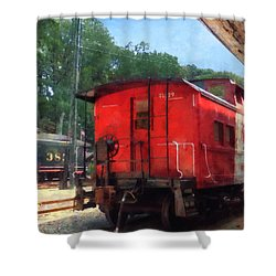 Caboose Shower Curtain by Susan Savad