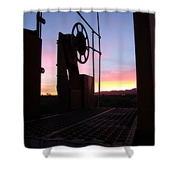 Caboose Waiting Til Dawn Shower Curtain by Diane Greco-Lesser