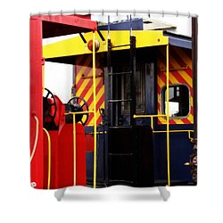 Cabooses Shower Curtain by Rodney Lee Williams