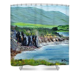 Cabot Trail Coastline Shower Curtain