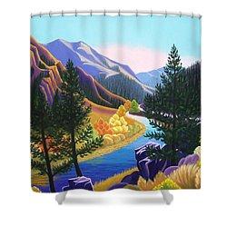 Cache De Poudre Shower Curtain