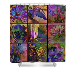 Cactus Flowers Shower Curtain by Barbara Berney