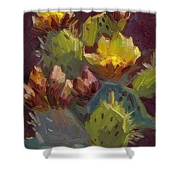 Cactus In Bloom 1 Shower Curtain