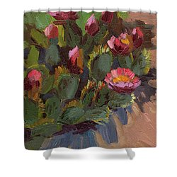 Cactus In Bloom 2 Shower Curtain