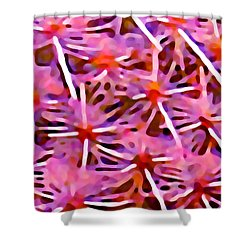 Cactus Pattern 2 Pink Shower Curtain by Amy Vangsgard