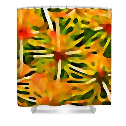 Cactus Pattern 3 Yellow Shower Curtain by Amy Vangsgard