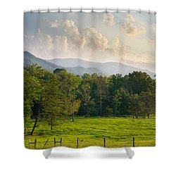 Cades Cove Shower Curtain by Melinda Fawver