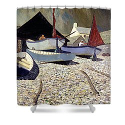 Cadgwith The Lizard Shower Curtain by Eric Hains