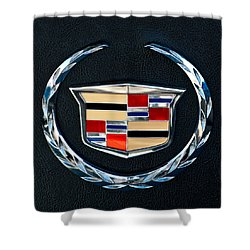 Cadillac Emblem Shower Curtain by Jill Reger