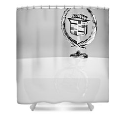 Cadillac Hood Ornament Shower Curtain by Jill Reger
