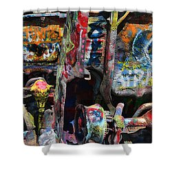 Cadillac Ranch Abstract Shower Curtain