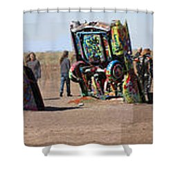 Cadillac Ranch Horizon Shower Curtain