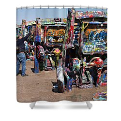 Cadillac Ranch Oblique Shower Curtain