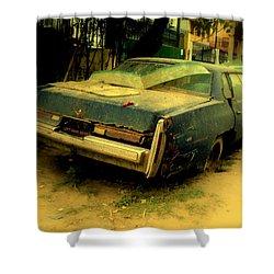 Shower Curtain featuring the photograph Cadillac Wreck by Salman Ravish