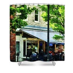 Cafe Albany Ny Shower Curtain by Susan Savad