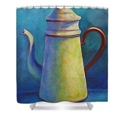 Cafe Au Lait Shower Curtain by Shannon Grissom