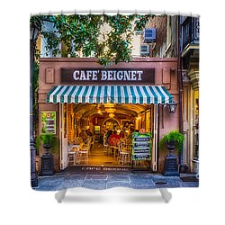 Cafe Beignet Morning Nola Shower Curtain
