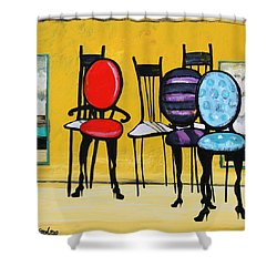 Cafe Chairs Shower Curtain by Karon Melillo DeVega