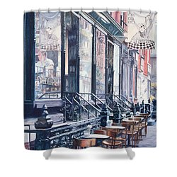 Cafe Della Pace East 7th Street New York City Shower Curtain by Anthony Butera