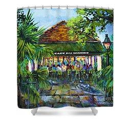 Cafe Du Monde Morning Shower Curtain by Dianne Parks