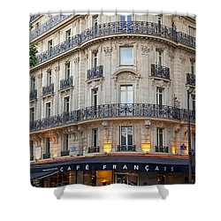Cafe Francais Shower Curtain by Brian Jannsen