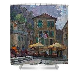 Cafe In Old City Shower Curtain
