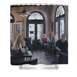 Cafe Maspero Shower Curtain