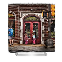Cafe - The Italian Bakery Shower Curtain by Mike Savad