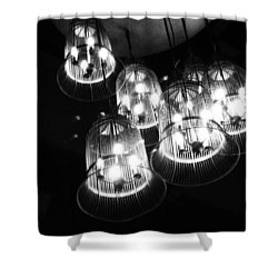 Caged Lights Shower Curtain by Justin Woodhouse