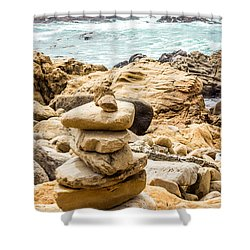 Cairn Shower Curtain by Suzanne Luft