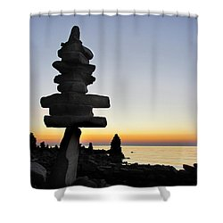 Cairns At Sunset At Door Bluff Headlands Shower Curtain