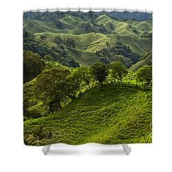 Caizan Hills Shower Curtain by Heiko Koehrer-Wagner