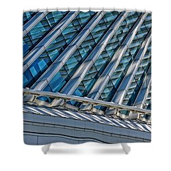 Calatrava In The Morning Shower Curtain by Mary Machare