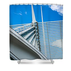 Calatrava Point Shower Curtain