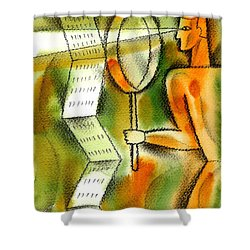 Calculation Shower Curtain by Leon Zernitsky