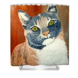 Calico Cat Shower Curtain