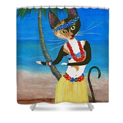 Calico Hula Queen Shower Curtain