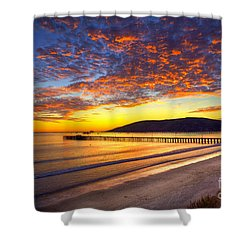 Avila Beach Sunset Shower Curtain