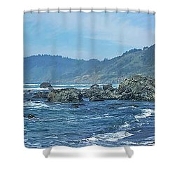 California Beaches 3 Shower Curtain