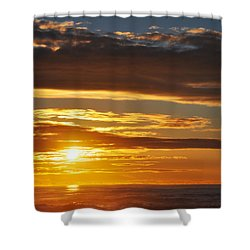 Shower Curtain featuring the photograph California Central Coast Sunset by Kyle Hanson