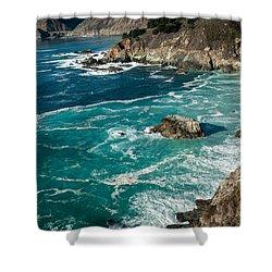 California Coast - Big Creek Bridge Shower Curtain by George Buxbaum
