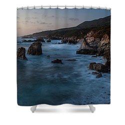 California Coast Dusk Shower Curtain by Mike Reid