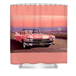 Shower Curtain featuring the painting California Dreamin' by Michael Swanson