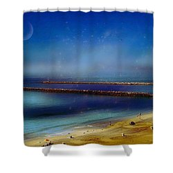 California Dreaming Shower Curtain by Tammy Espino
