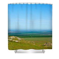 California Farmland Shower Curtain by Ram Vasudev