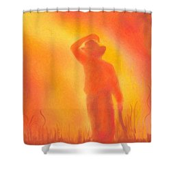California Fires Shower Curtain by Angela A Stanton