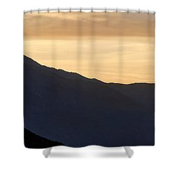 California Golden Desert Sunset Shower Curtain by Heidi Smith