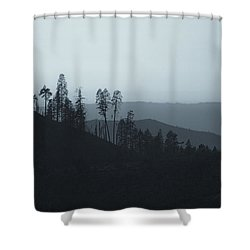 California Gray Skies Shower Curtain