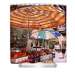 California Oranges Shower Curtain by Miriam Danar