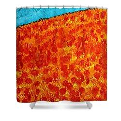 California Poppies Original Painting Shower Curtain